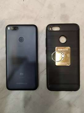 Mi A1 first class condition with strong back cover