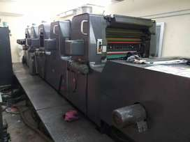 OFF Set Printing Machine 5 Colour. For Rent with cutting machine.