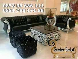 Sofa Chesterfield / Turkey Jati Ukir Jepara Super Premium