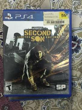 infamous second son ps4 games