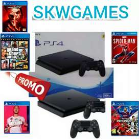 Ps4 slim Hdd 500GB Full games +2stick warlles