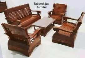 Sofa minimalis mewah & moderen, formasi, 3.2.1.bahan kayu jati terbaik