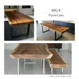 Furniture : dining table, coffee table