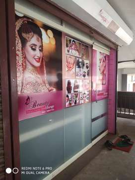 Good  condition beauty parlour at town centre
