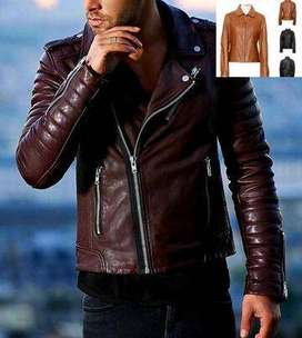 fashion CAFE RACER DISTRESSED BROWN LEATHER MOTORCYCLE JACKET