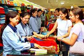 Sales girls required in showrooms well mart store suiteble timing Fix