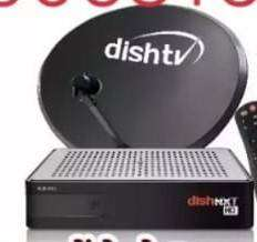 Dish tv set top box with antena and adapter