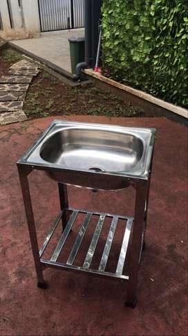 Wastafel / Basin / Sink Portable Stainless untuk Cuci Tangan