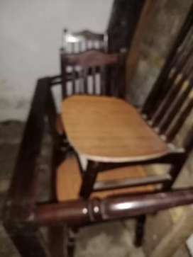 Dinning table teak 4 chairs