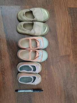 Sepatu bayi umur 0-2 thn (3 pasang)