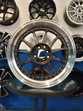 velg racing model hartge rong17x7.5/8.5 pcd4x100/114.3 mobilio rs jazz