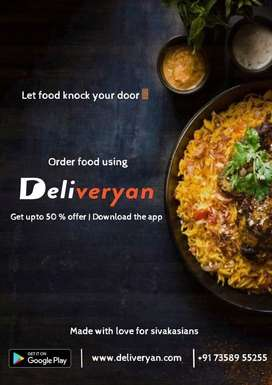 Need delivery man for food delivery