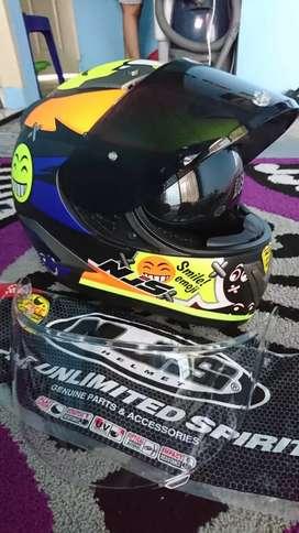 Helm Full Face NJS double Visor