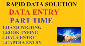Part time Home Based work Typing Work Data entry weekly earn
