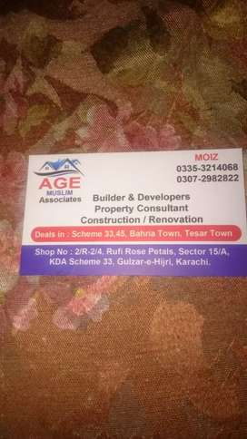 Independent house available in KDA employ society