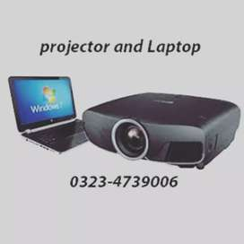 All projector and Laptop