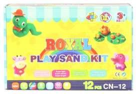 Play Sand Kit Royal Isi 12 Cup Anak Pasir Ajaib