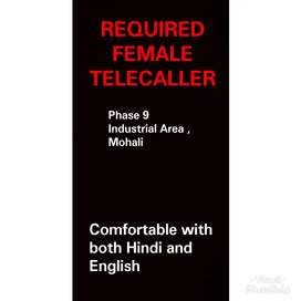 Required Female Telecaller with expirence in handling inquires