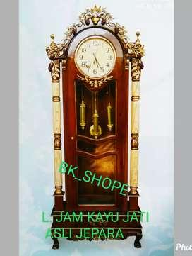 Lemari Jam asli Jepara dr bhn kayu Jati - Tampilan simple tapi Antik