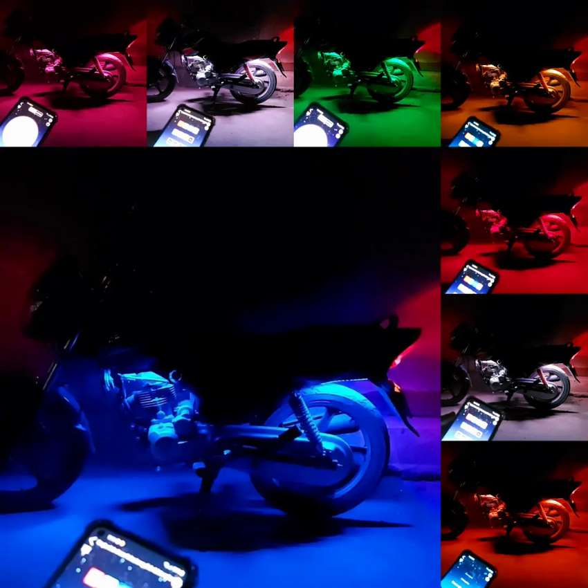 4 Strips RGb with Bluetooth mobile control.