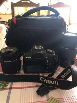 Canon 1300d with two lenz