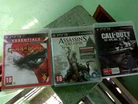 ps3 games dvd disc -god of war3 -wwe15 -assian creed