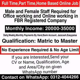 Full-time,Part time,Online Home Based job for (students,males,females)
