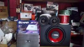 "Subwoofer 12""+Box Sub+Power 4 Chnl+Tweter+Spiker 6 inchi+Instalasi+psg"
