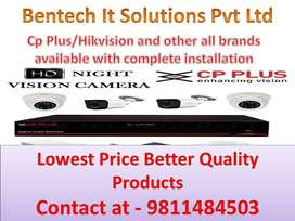 CCTV camera installation Hikvision Cp plus and door lock all brands