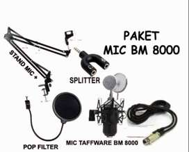 Paket microphone BM 8000 stand mic pop filter