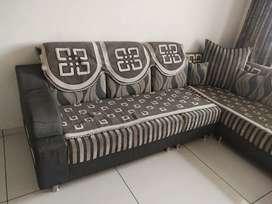 L Shape Corner Luxurious sofa Set with Covers
