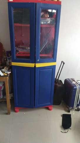 Red blue cupboard