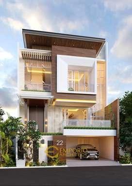 Jasa Arsitek Jakarta Desain Rumah 432.3m2 - Emporio Architect