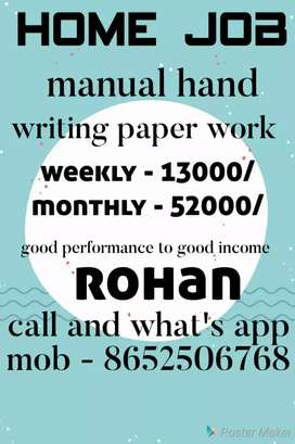 Small & capital handwriting job