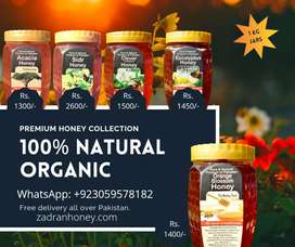 Buy Organic Honey with moneyback guarantee| All types | Zadran Honey