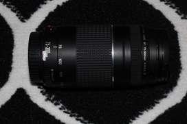 Lens Tele Canon 75-300 ( 100%masih mulus + box, jarang di pakai