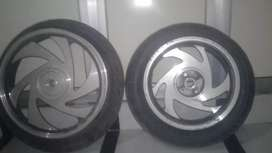 Alloy wheels bullet with tyres