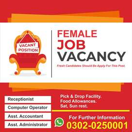 Female Staff Required for office work