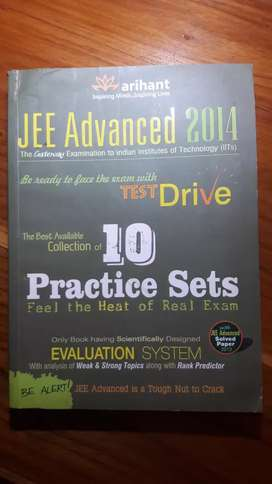 JEE ADVANCED Arihant 10 practice sets book.(Second hand).
