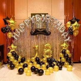 Birthday theme and room balloons decorations