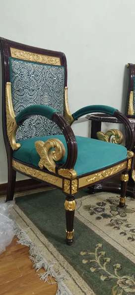 Luxury room chairs with coffee table
