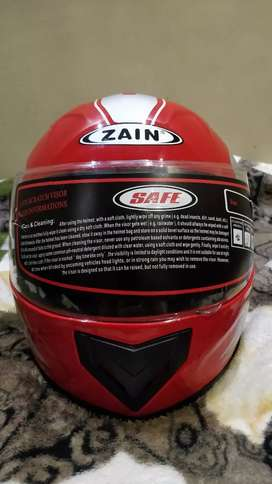 Zain,Red colour Safe and reliable helmet.