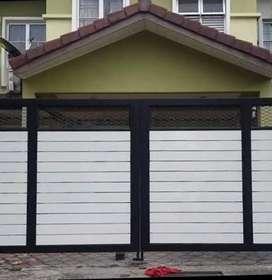 Kami bengkel las nerimah pemasangan pagar grc motif kayu $$1172