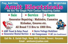 All types of Generator and Amf Panel Repairing.