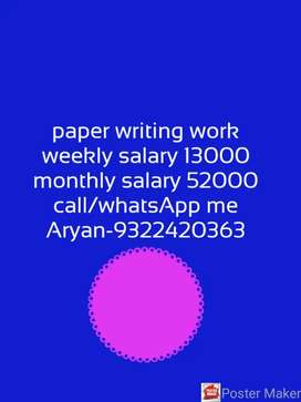 Best opportunity Good writing Good Earning