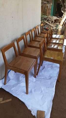 Kursi retro / kursi caffe / kursi restoran, kayu jati, free ongkir