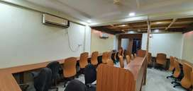 26 seater office with boss cabin fully furnished plz call me 4 visit