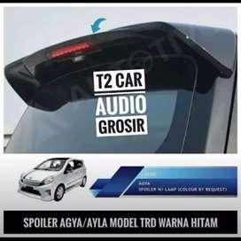 Hot promo SPOILER AGYA AYLA MODEL TRD WARNA HITAM mumer grosir gan