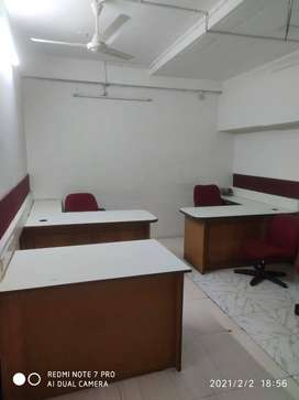 1500 sq ft furnished office, 25 to 30 work station rent in Siddhapudur
