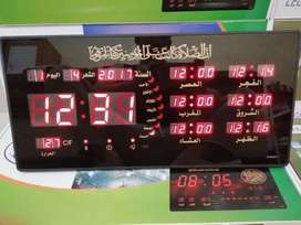 Jam Dinding Digital LED ADZAN 5 Waktu Clock 4622 Y-1 ID82